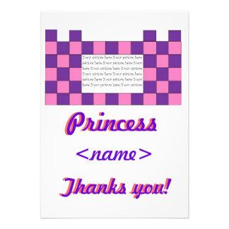 Prinzessin Pink lila Schloss-zweiter Geburtstag da