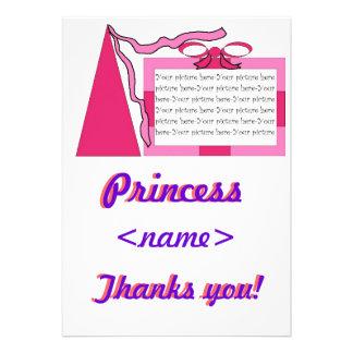 Prinzessin Pink/rosa Hut-erstes Geburtstags-Party  Einladungskarte