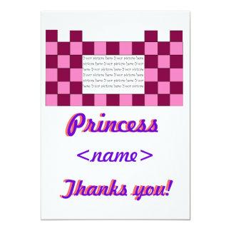 Prinzessin Pink/rosa Schloss-drittes Geburtstags-P Personalisierte Einladungskarte