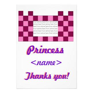 Prinzessin Pink rosa Schloss-fünftes Geburtstags-P