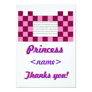 Prinzessin Pink/rosa Schloss-viertes Geburtstags-P Individuelle Ankündigskarten