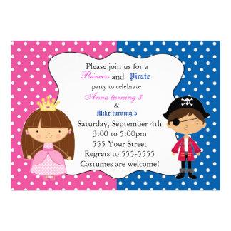 Prinzessin Pirate Invitation mit Tupfen Einladungskarten