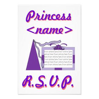 Prinzessin Purple/lila Hut-drittes Geburtstags-Par Personalisierte Ankündigungen