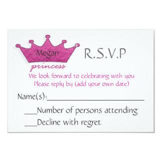 Prinzessin R.S.V.P 8,9 X 12,7 Cm Einladungskarte