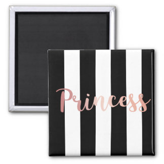 Prinzessin Rose Gold Striped Magnet