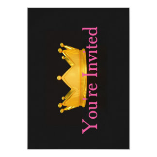 Prinzessin Themed Invitation 11,4 X 15,9 Cm Einladungskarte