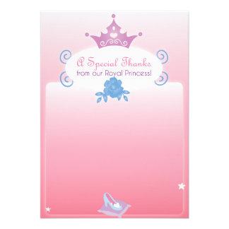 Prinzessin Themed Thank You Card Personalisierte Einladungskarte