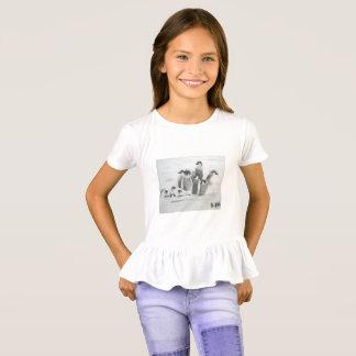 Prinzessin Toytastic Penguin Girls' Ruffle T - T-Shirt