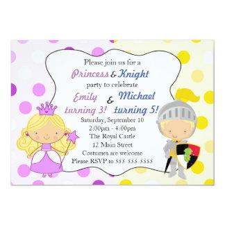Prinzessin-und 12,7 X 17,8 Cm Einladungskarte