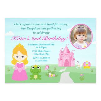 Prinzessin und die 12,7 x 17,8 cm einladungskarte