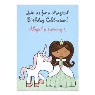 Prinzessin-und Einhorn-Geburtstags-Einladung