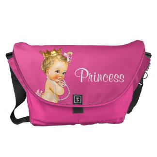 Prinzessin-und Perlen-Pink-Baby-Windel-Tasche Kuriertaschen