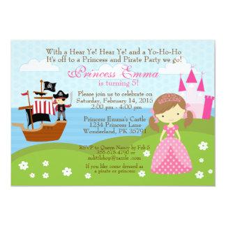 Prinzessin- und Piratengeburtstagseinladung 12,7 X 17,8 Cm Einladungskarte