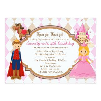Prinzessin und Prinz - Geburtstags-Party 12,7 X 17,8 Cm Einladungskarte