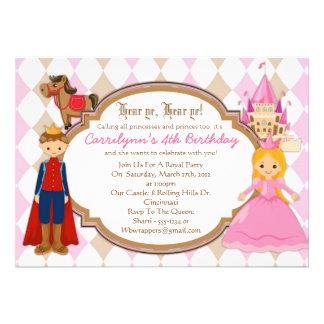 Prinzessin und Prinz - Geburtstags-Party Ankündigung