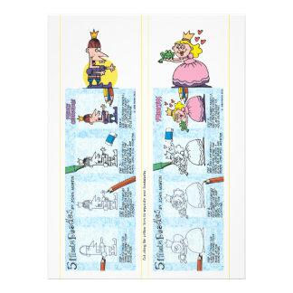 Prinzessin- und Prinz-Lesezeichen Individuelle Einladungskarte