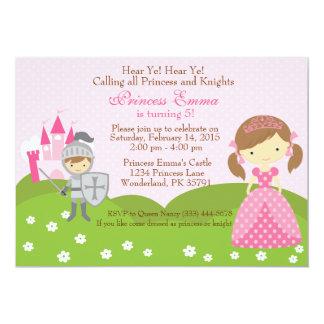 Prinzessin- und Rittergeburtstagseinladung 12,7 X 17,8 Cm Einladungskarte