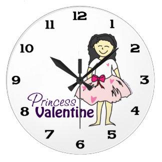 Prinzessin Valentine Große Wanduhr