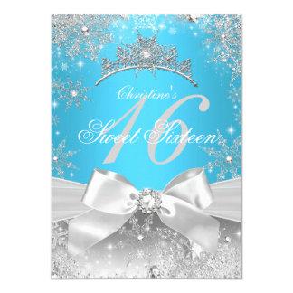 Prinzessin Winter Wonderland Blue Sweet 16 Karte