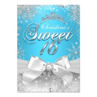Prinzessin Winter Wonderland Blue Sweet 16 laden 12,7 X 17,8 Cm Einladungskarte