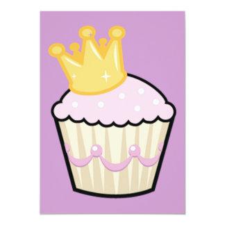 Prinzessinkleiner kuchen mit Krone 12,7 X 17,8 Cm Einladungskarte