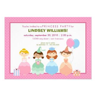 Prinzessinnen All in einer Reihen-Prinzessin Party Ankündigungskarten
