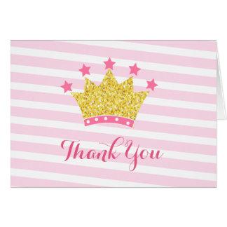Prinzessinrosa und Goldgeburtstag danken Ihnen Karte