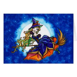"""Priscilla"" Halloween Hexe-Fantasie-Fee Karte"