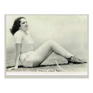 Priscilla Lawson Postkarte