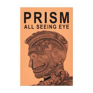 PRISMA - alles sehende Auge - Aprikose Leinwanddruck
