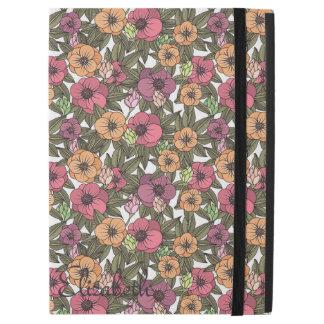 Pro cas d'iPad floral de nostalgie sans Kickstand