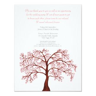 Proben-Abendessen-Kirschblüten-Kirschblüte-Baum 10,8 X 14 Cm Einladungskarte