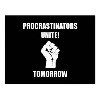 Procrastinators vereinigen postkarte