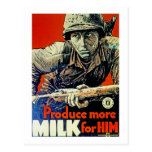 Produisez plus de lait pour lui carte postale