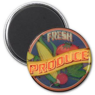 Produit frais magnet rond 8 cm