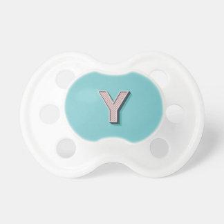 Produkt mit Buchstabe Y Schnuller