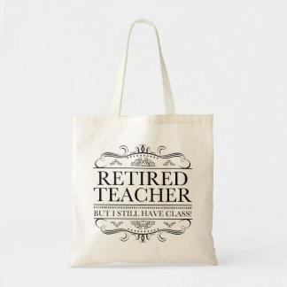 Professeur retraité drôle sac en toile budget