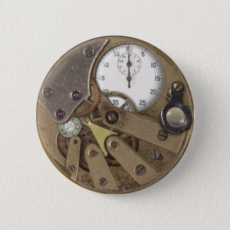 Professor Temples Chronoticulator Pin Runder Button 5,7 Cm