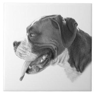 Profil einer Boxer-Hundefliese Trivet Fliese