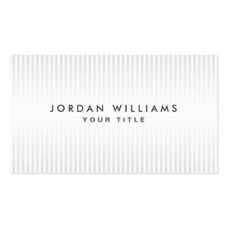 Profil professionnel gris-clair et blanc moderne cartes de visite professionnelles