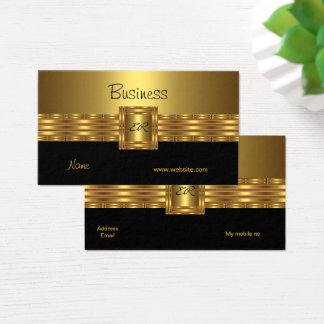 Profil-Visitenkarte-Gold auf Goldschwarzem Visitenkarte