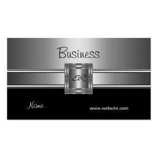 Profil-Visitenkarte-Silber-Chrom-Schwarzes Visitenkarten