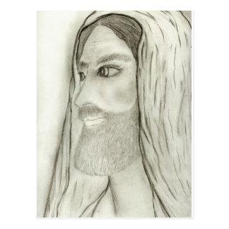 Profil von Jesus Postkarte