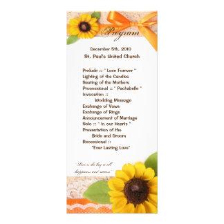 Programm-rustikales Sonnenblume-Land der Werbekarte