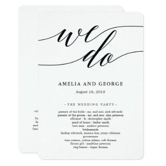Programme moderne de cérémonie de mariage de
