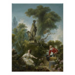 Progrès de l'amour : Le rendez-vous par Fragonard Poster