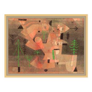 Projekt für einen Garten durch Paul Klee Postkarte