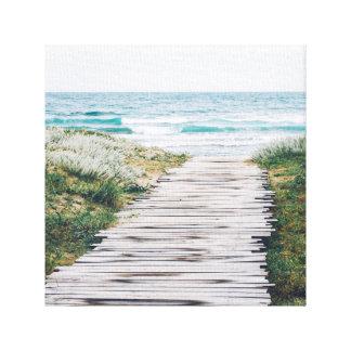 Promenade auf dem Strand Galerie Gefaltete Leinwand