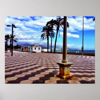 Promenade entlang dem Mittelmeer Poster