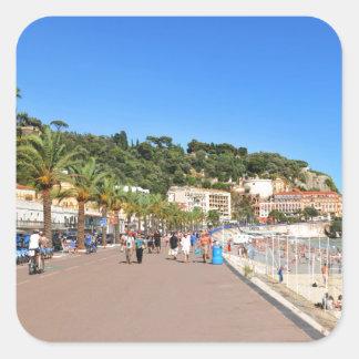 Promenaden-DES Anglais Quadratischer Aufkleber